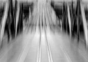 Abstract photo of a boat launch
