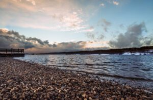 Photograph of Lake Galena as a storm breakd